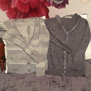 Anthro and VS Shimmer Cardigan Bundle